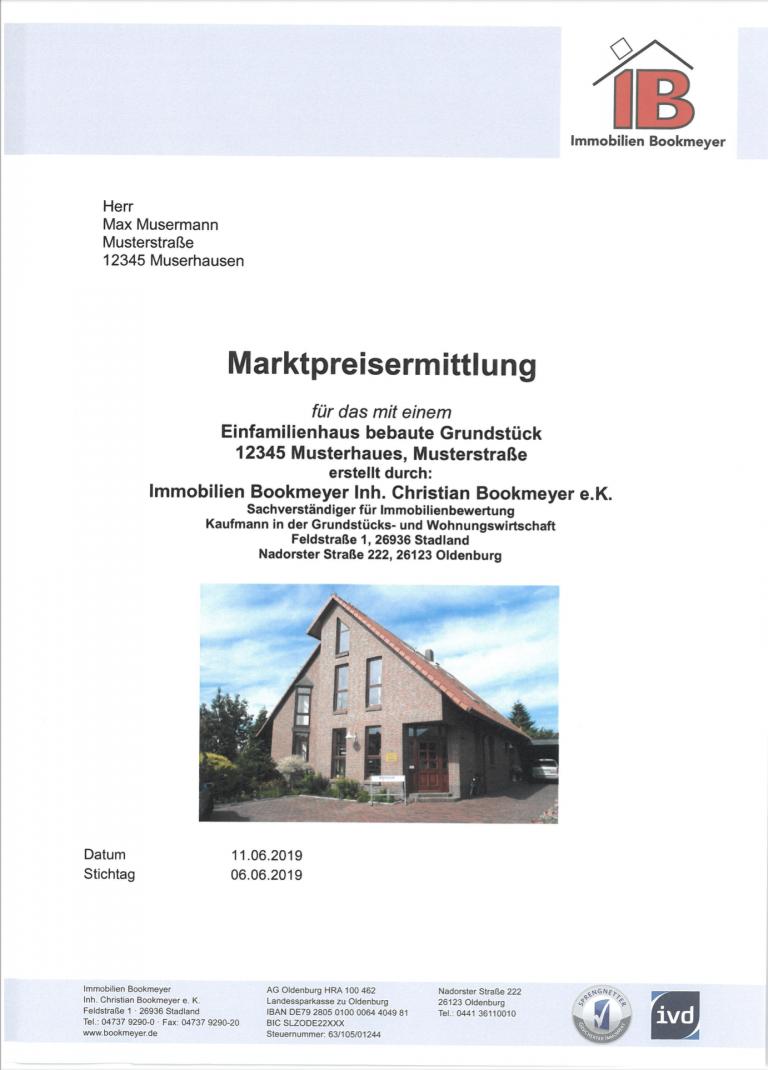 Muster einer Immobilienwertexpertise